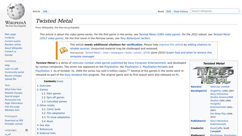 Twisted Metal Landing Page