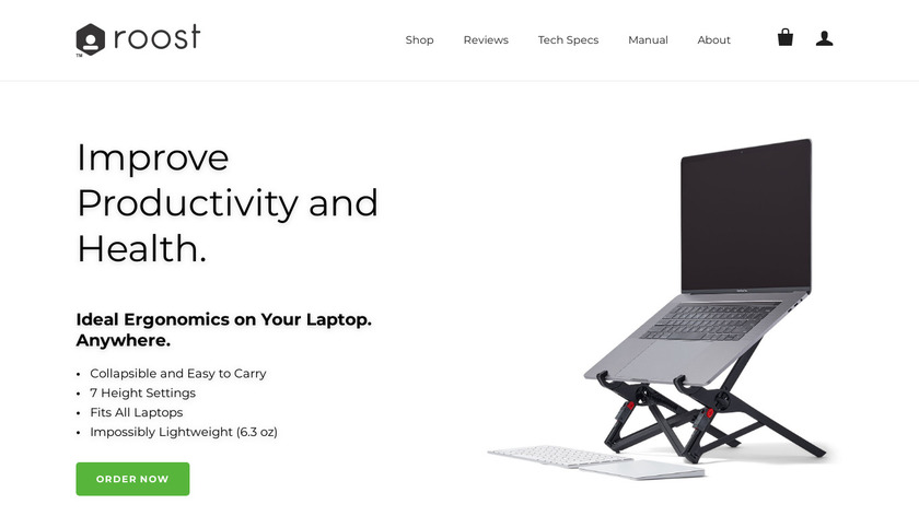 Roost Laptop Stand Landing Page
