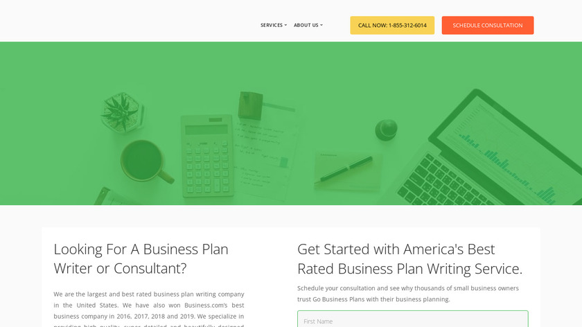 Go Business Plans Landing Page