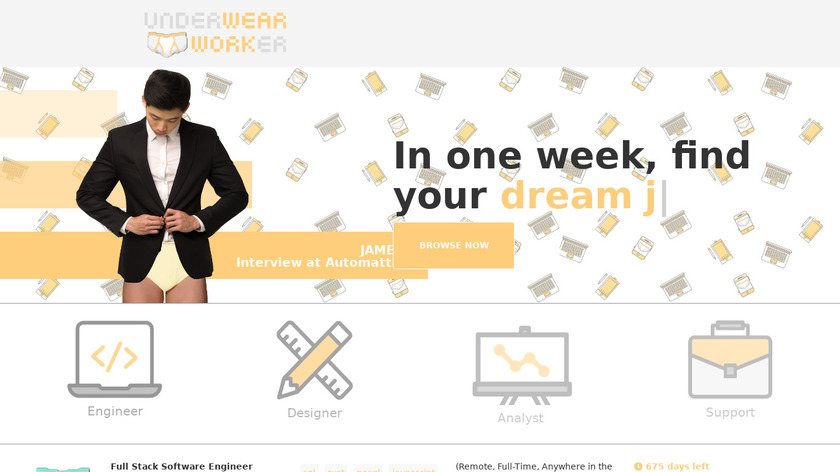 Underwear Worker Landing Page