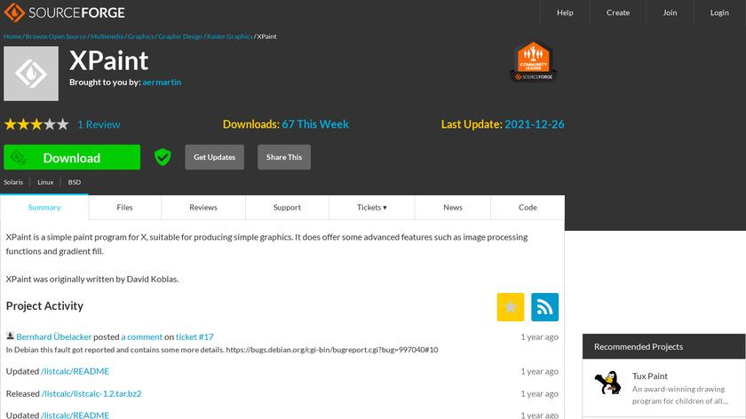XPaint Landing Page