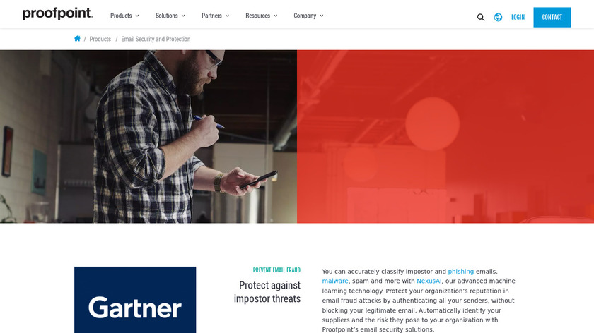 Proofpoint Email Security and Protection Landing Page