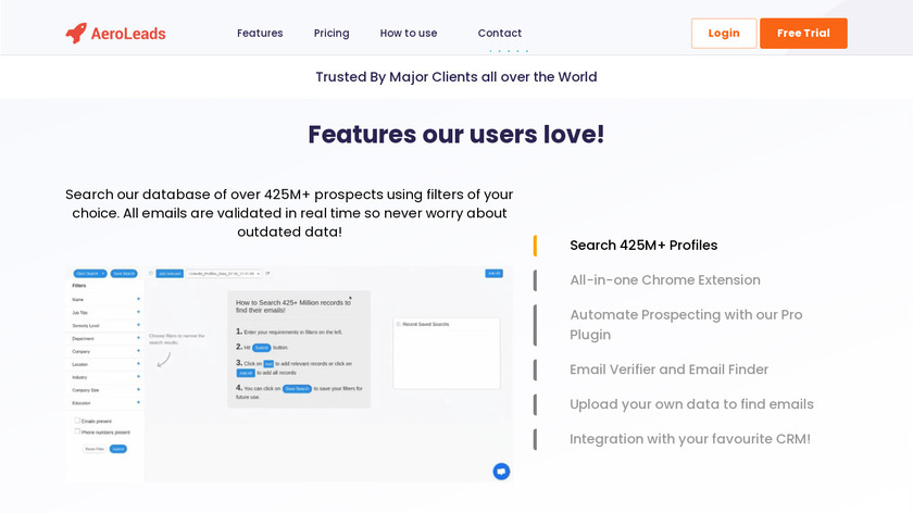 AeroLeads Landing Page