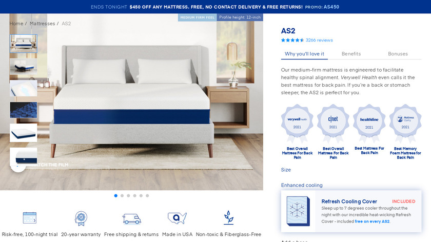 Amerisleep AS2 Landing Page