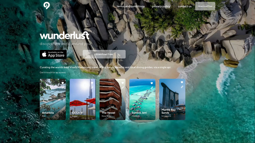 Wunderlust Landing Page