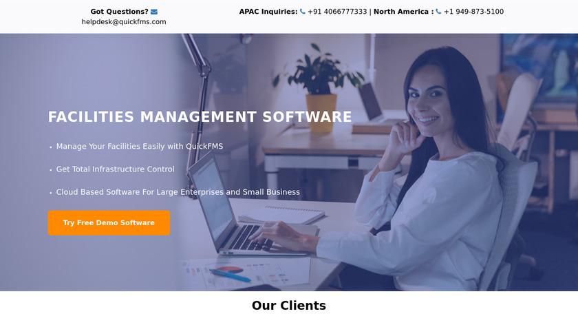 QuickFMS Landing Page