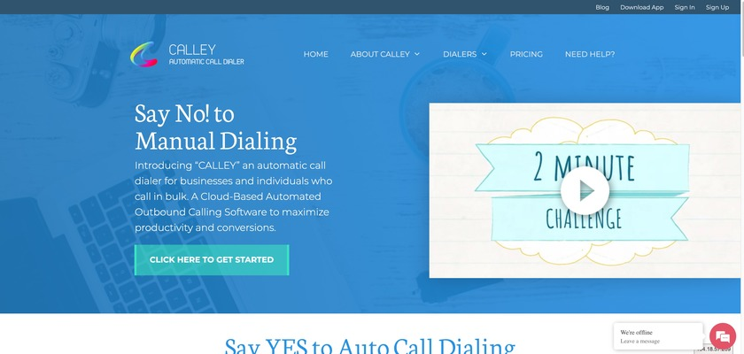 Calley Landing Page