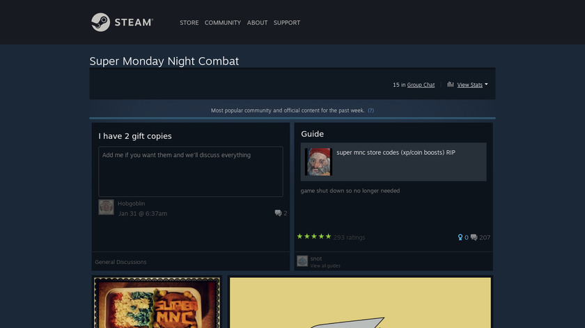 Super Monday Night Combat Landing Page