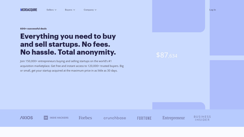 MicroAcquire Landing Page