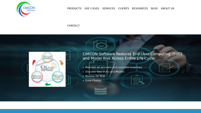 CIMCON Software Landing Page