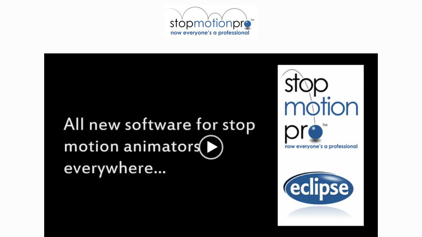 Stop Motion Pro Landing Page