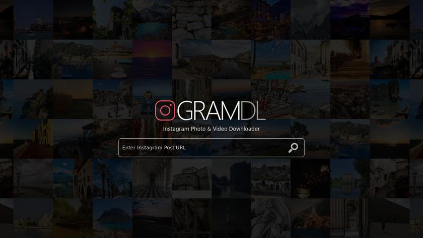 GramDL.com Landing Page