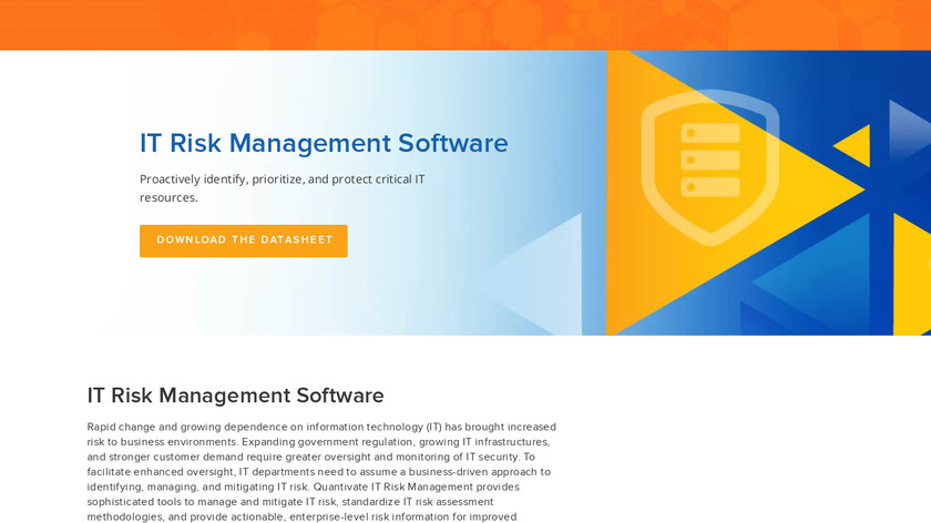 Quantivate IT Risk Management Landing Page