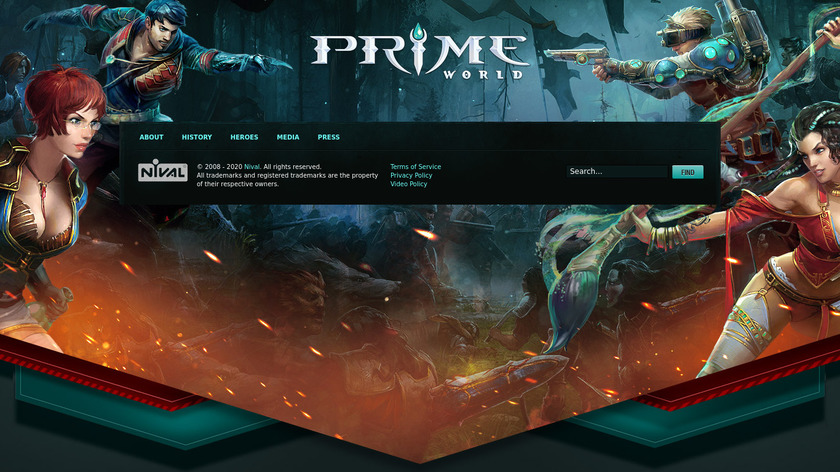 Prime World Landing Page