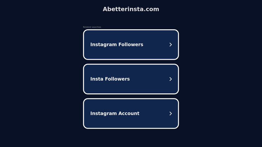 A better Insta Landing Page