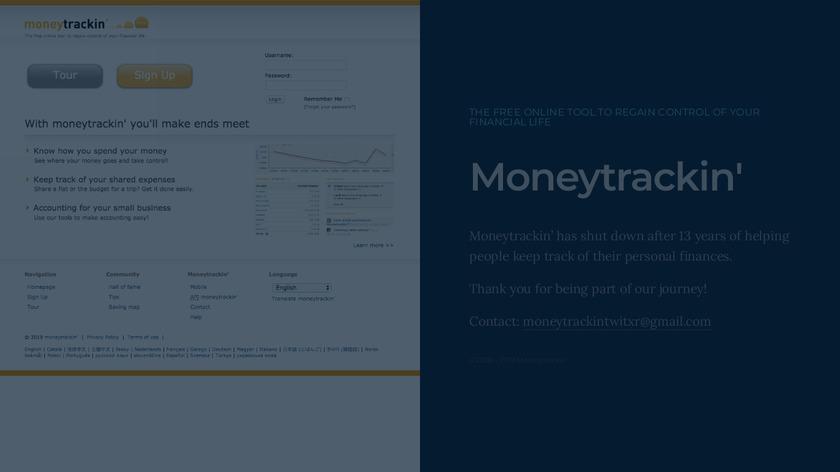 MoneyTrackin Landing Page