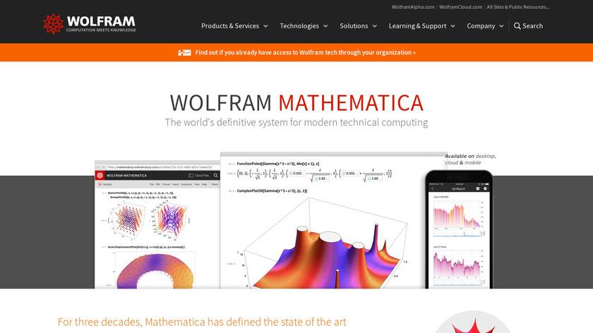 Wolfram Mathematica Landing Page
