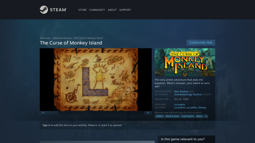 The Curse of Monkey Island Landing Page