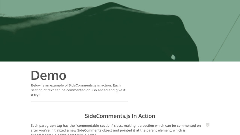 SideComments.js Landing Page