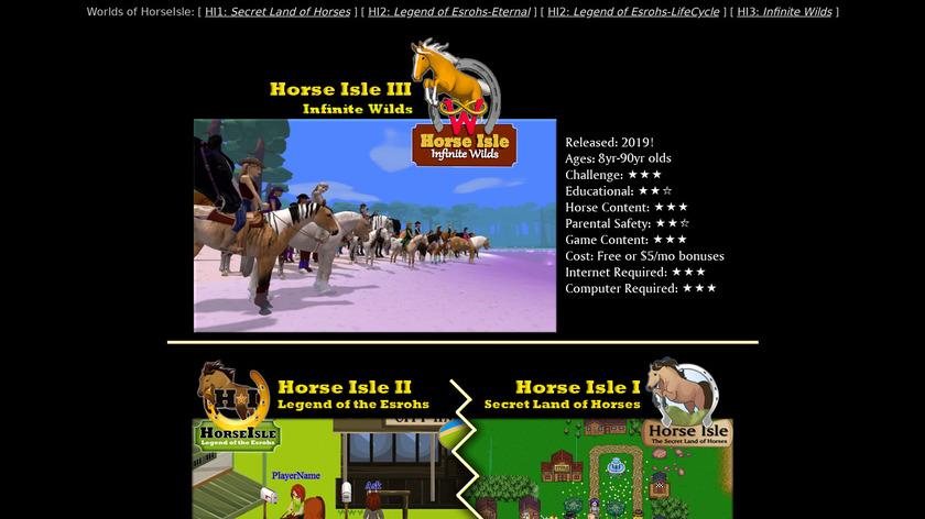 Horse Isle Landing Page