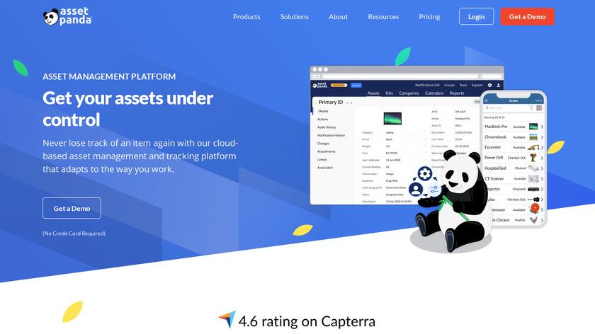 Asset Panda Landing Page