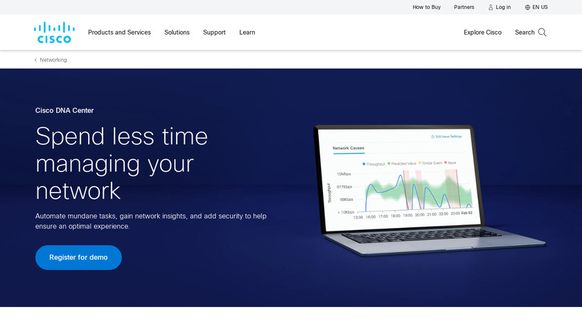 Cisco DNA Center Landing Page