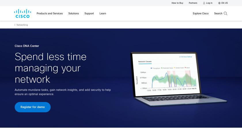 Cisco DNA Center Landing Page