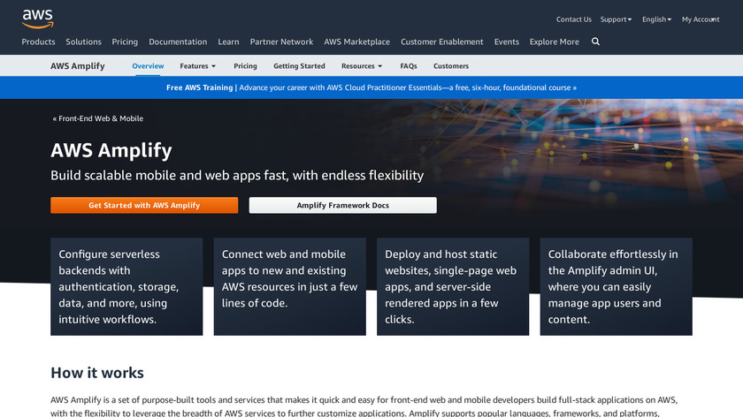 AWS Mobile Services Landing Page