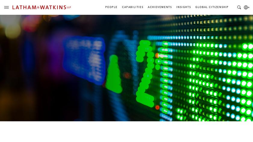 Latham & Watkins Landing Page