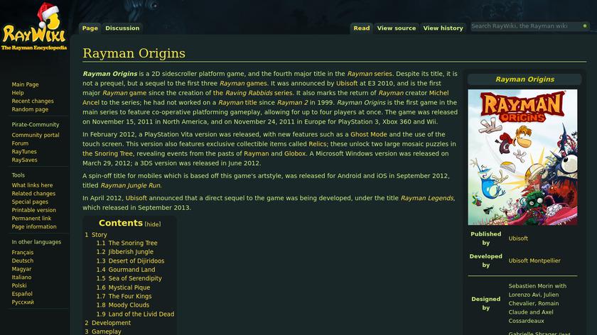 Rayman Origins Landing Page
