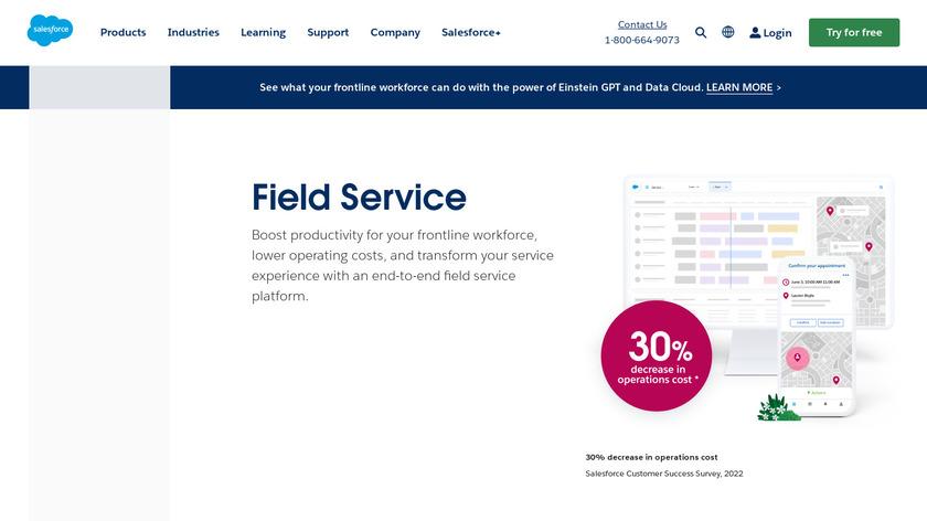 Service Cloud Field Service Landing Page