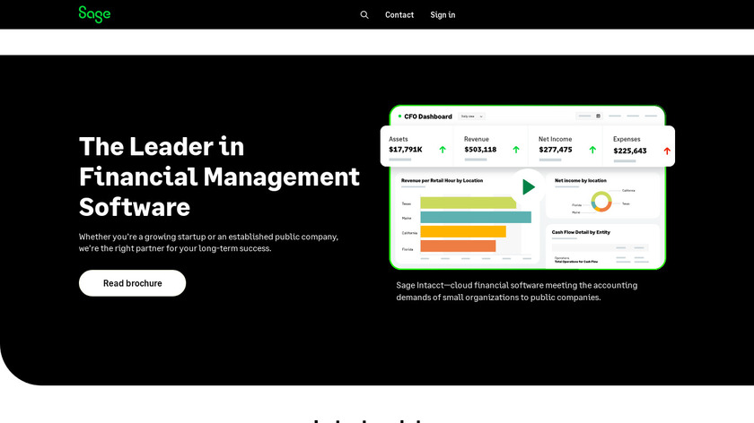 Sage Intacct Landing Page