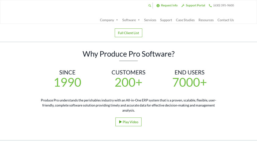 Produce Pro Software Landing Page