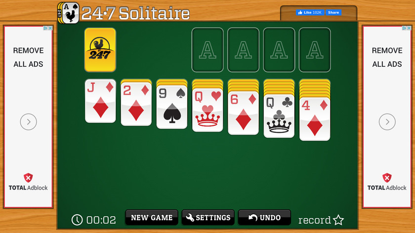 247 Solitaire Landing Page