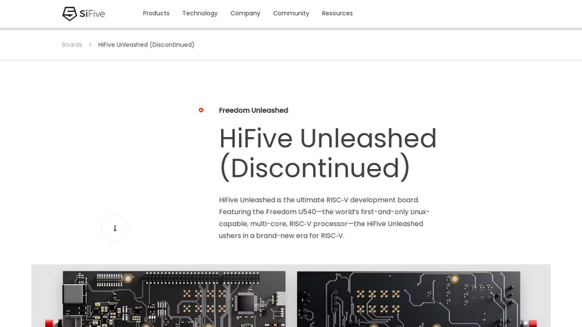 HiFive Unleashed Landing Page