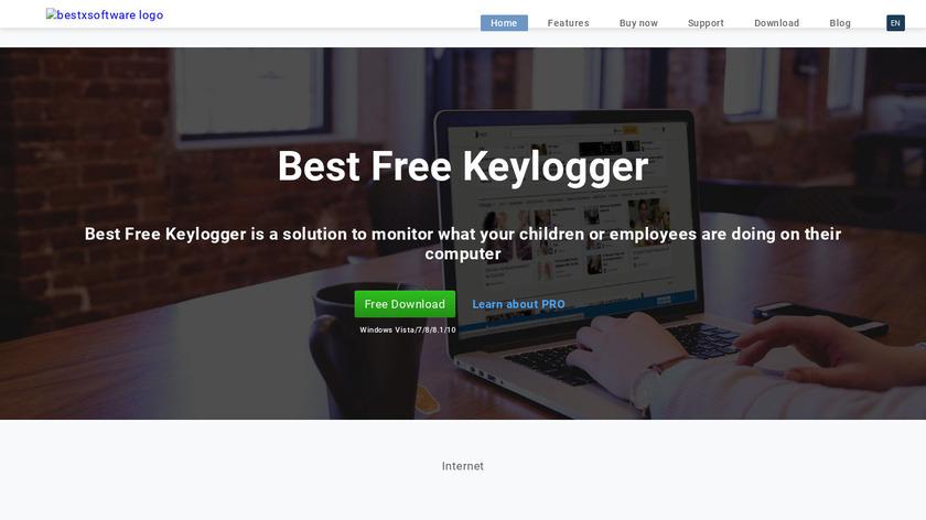 Best Free Keylogger Landing Page