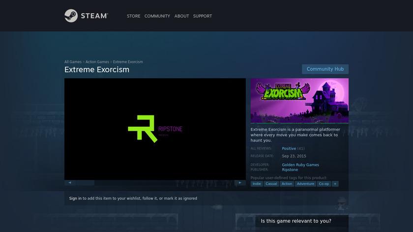 Extreme Exorcism Landing Page