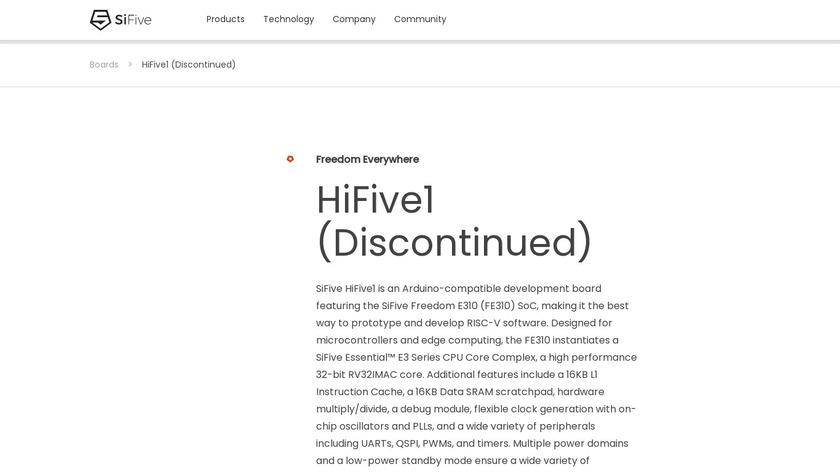HiFive1 Landing Page