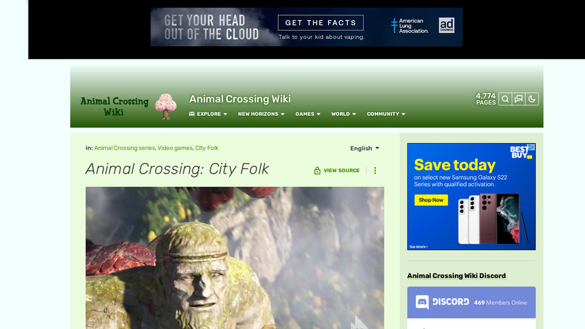 Animal Crossing: City Folk Landing Page