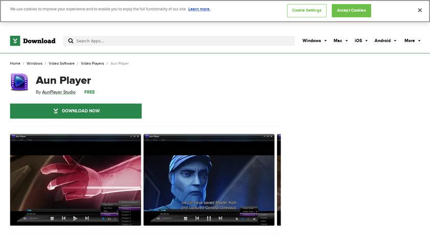 Aun Player Landing Page