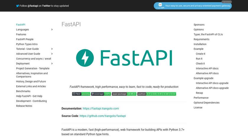 FastAPI Landing Page