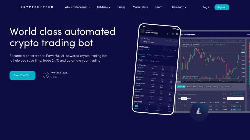 Cryptohopper Landing Page