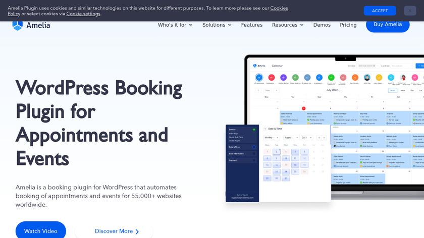 WPAmelia Landing Page