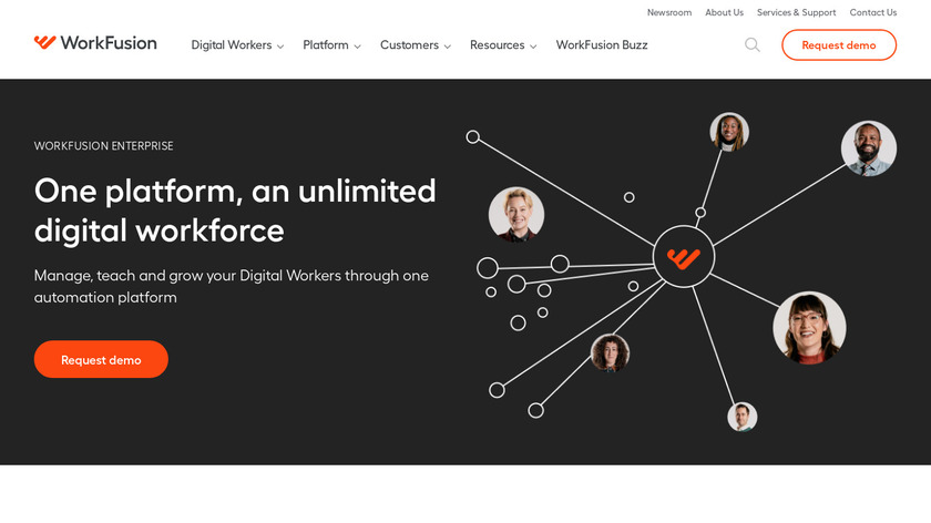 Workfusion Intelligent Automation Cloud Landing Page