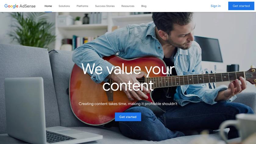 AdSense Landing Page