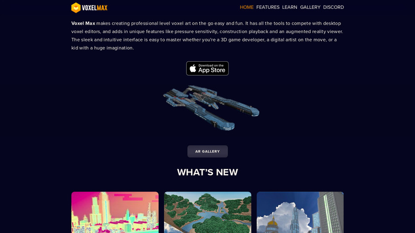 Voxel Max Landing Page