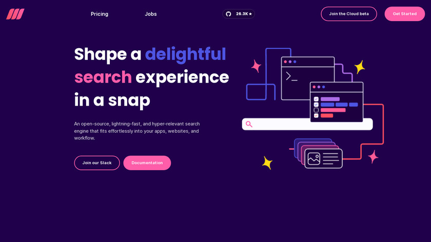 Meili Search Landing Page