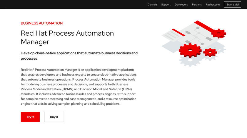 Red Hat Process Automation Manager Landing Page