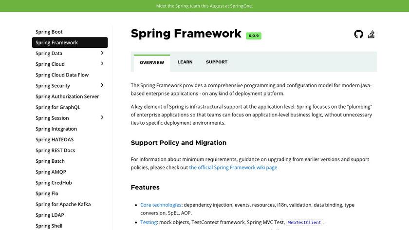 Spring Framework Landing Page
