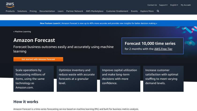 Amazon Forecast Landing Page